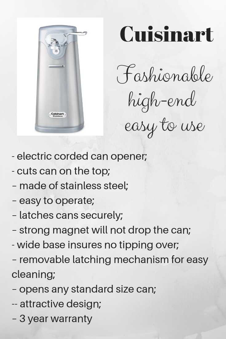 mechanism description of a can opener